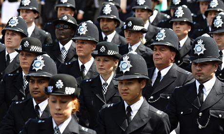Metropolitan police line up