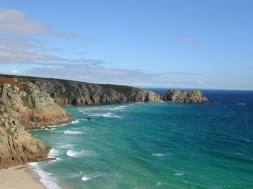 Porthcurno_Bay_and_Logan_Rock_Headland