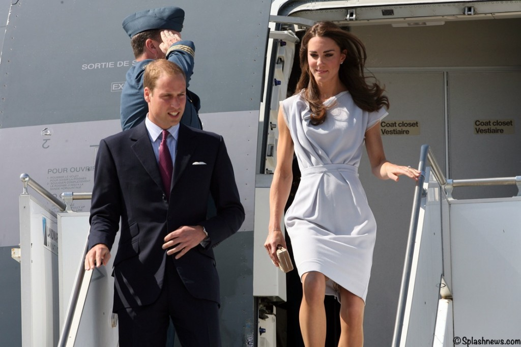 The Duke And Duchess Of Cambridge Arrive At LAX International Airport