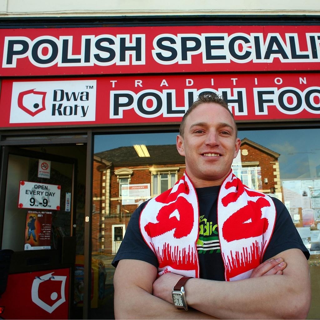Польский магазин в Лондоне и его хозяин