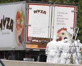 Полиция Австрии обнаружила 71 тело в фургоне грузовика.