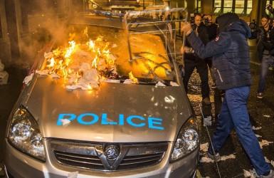 Ночь Гая Фокса. Протесты и погромы в центре Лондона.