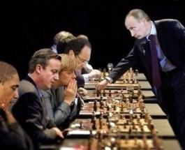 """Путин делает ход конем и объявляет """"шах"""" ИГИЛ."""