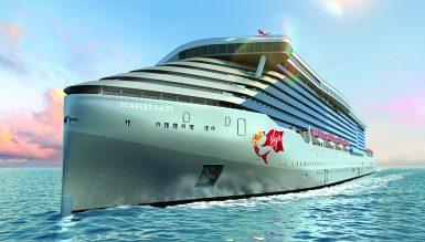 Новое круизное судно компании Virgin Voyages получило названиет Scarlet Lady