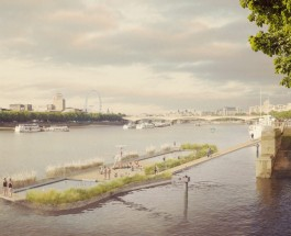 В Лондоне построят открытый бассейн на Темзе.