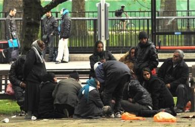 Потоки граждан Румынии и Болгарии стекаются в Лондон.