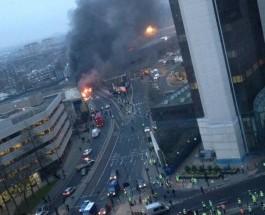 Вертолет упал в центре Лондона, в районе Vauxhall