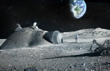 Первая хижина человека на Луне.