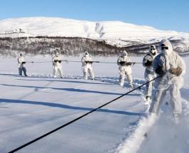 Королевская морская пехота готовится воевать в условиях русской зимы.