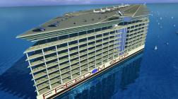 Корабль – город, где смогут жить 50 тыс человек.