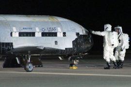 Сверх секретный беспилотник X-37В полтора года на орбите.