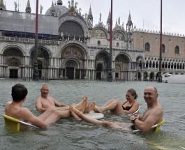 Наводнение в Венеции.