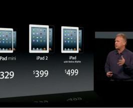 Премьера iPad mini и iPad 4.