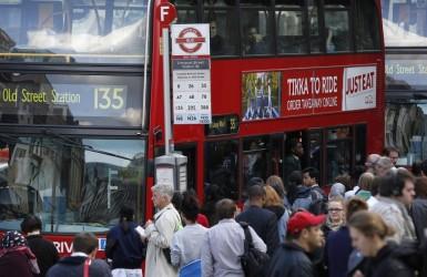 Транспортный коллапс в Лондоне.