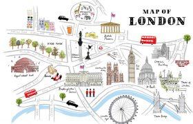 Криминальная карта Лондона.