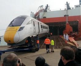 Новые японские поезда в Великобритании.
