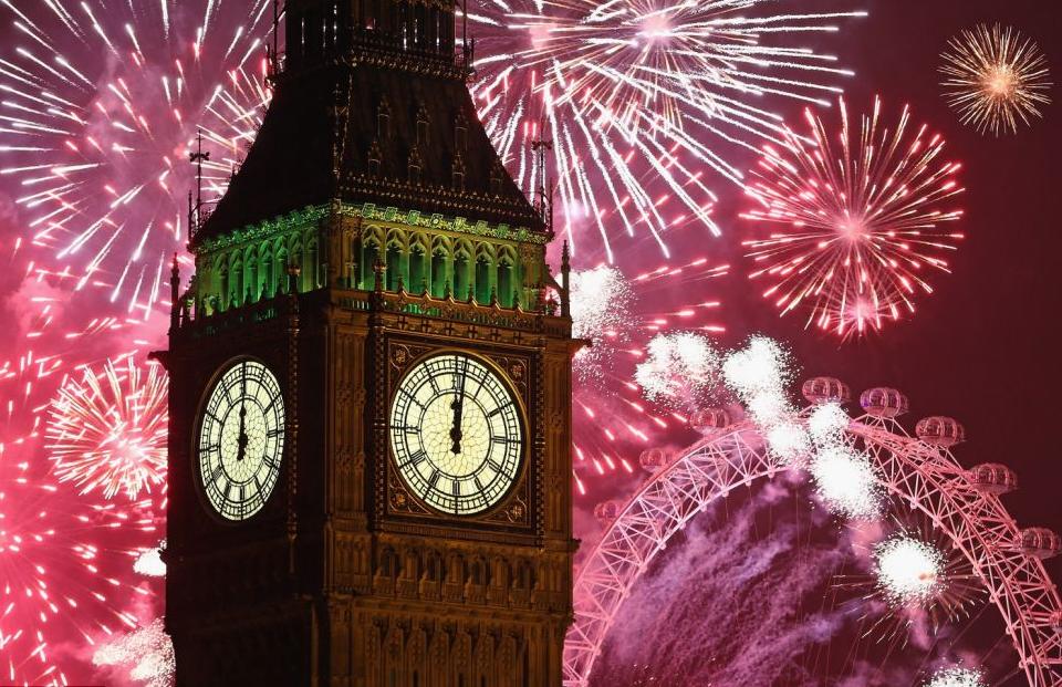 Новогодние торжества в Лондоне.