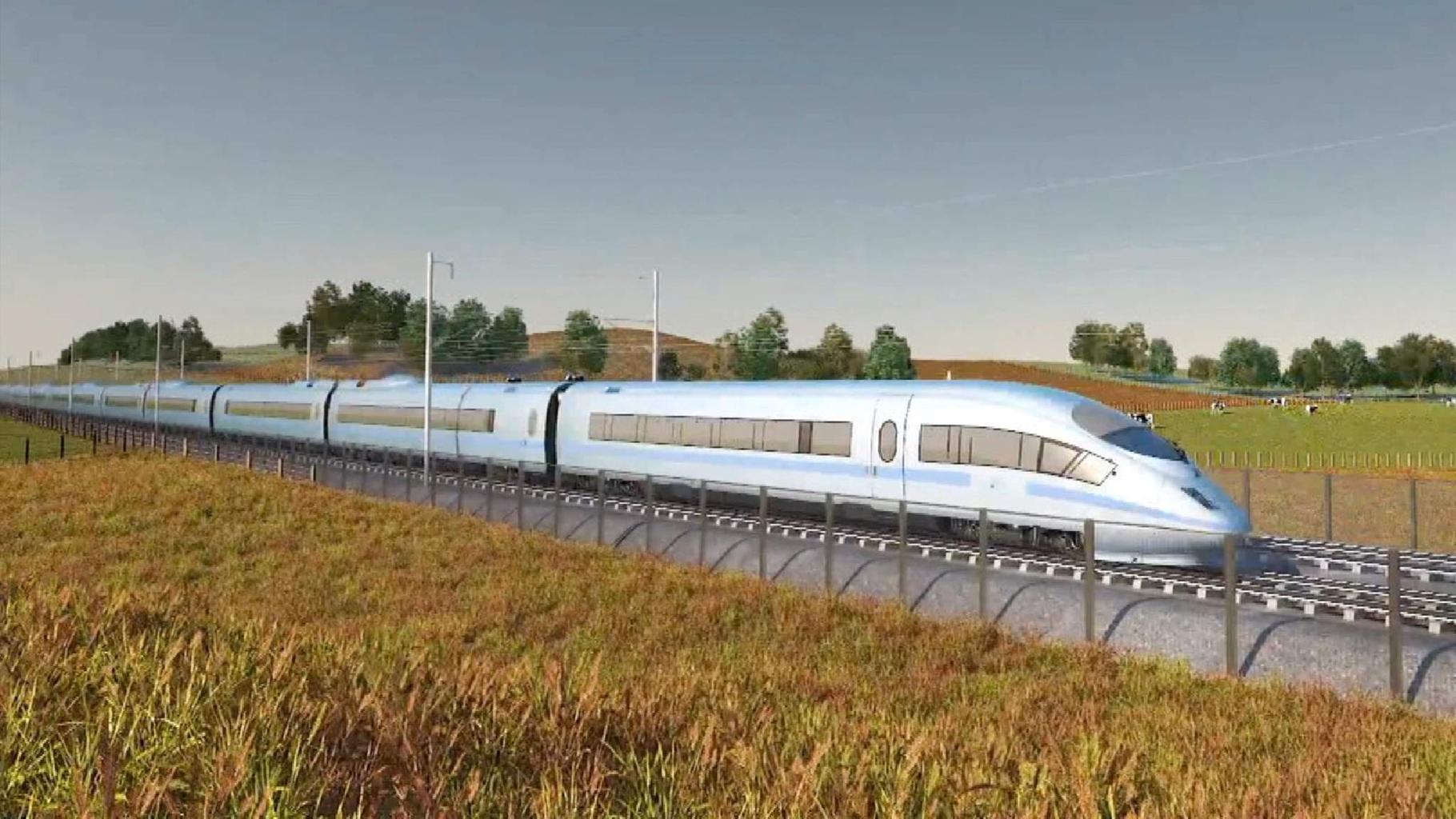 Скоростная железная дорога соединит Лондон и север Англии.