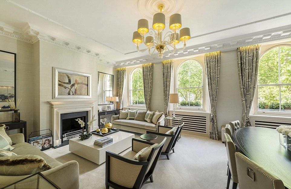 Квартира в аренду в центре Лондона, где жила кинозвезда, за £546 000 в год.