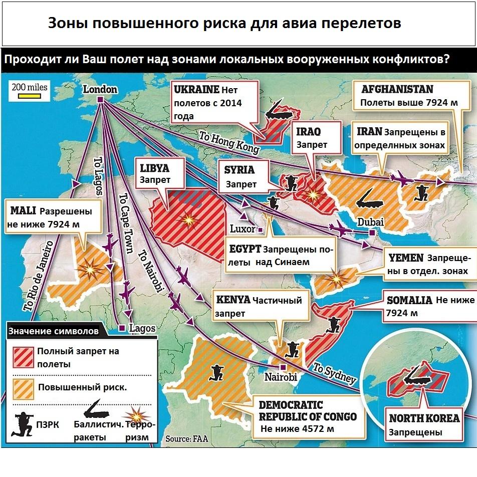 Если Вы собираетесь в полет. Проверьте Ваш маршрут на террористическую опасность.